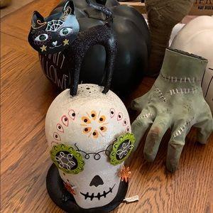 Flickering Light Halloween Skull Day of the Dead